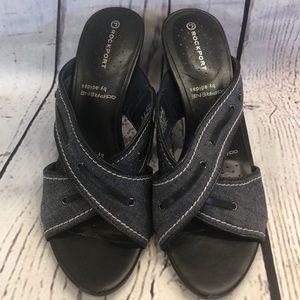 Rockport Adiprene by Adidas denim dress sandals